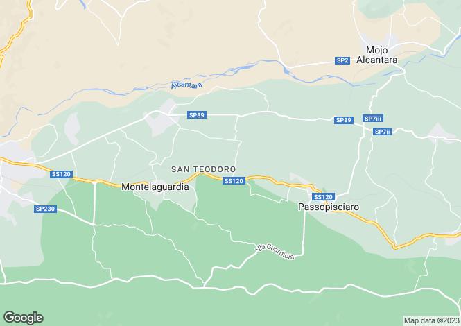 Map for Randazzo, Catania, Sicily