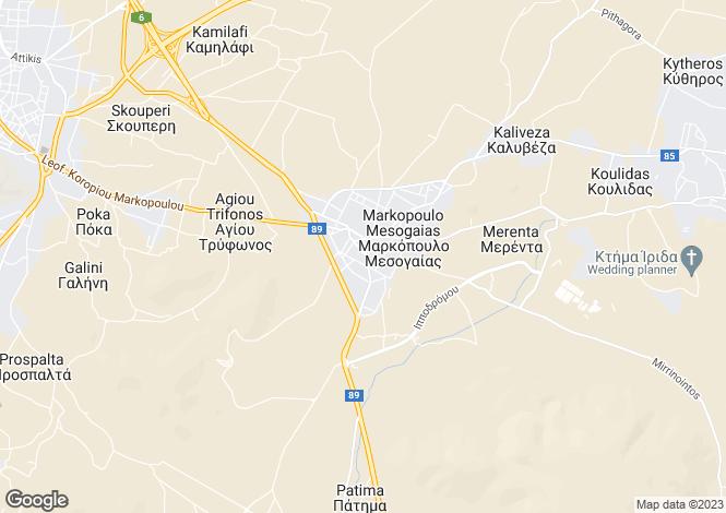 Map for Markopoulo, Attica