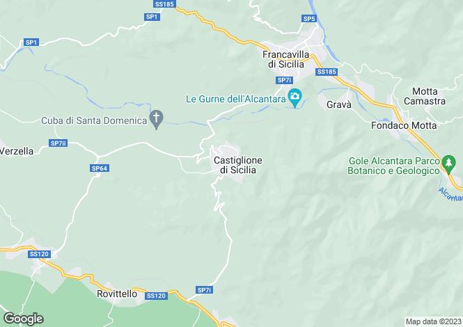Map for Castiglione di Sicilia, Catania, Sicily