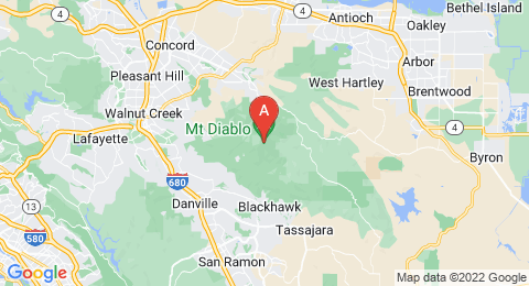 map of Mount Diablo (United States of America)