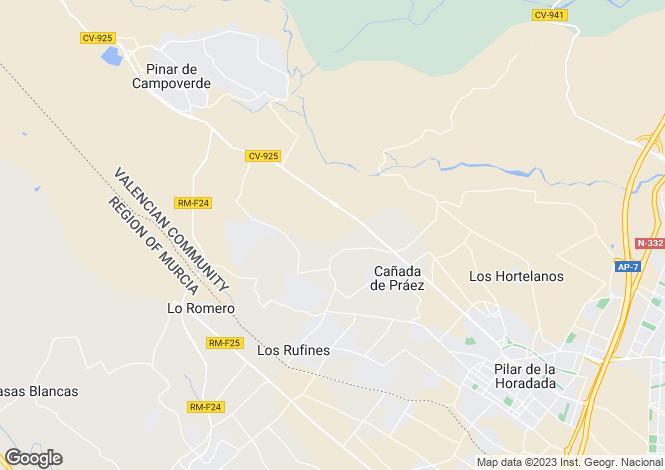Map for Campoamor, Alicante, Spain