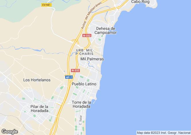 Map for Mil Palmeras, Alicante, Valencia
