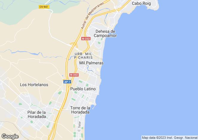 Map for Paseo Riviera vivienda num. 35 bajo Bloque Jessica - Mil Palmeras, Orihuela Costa, Orihuela