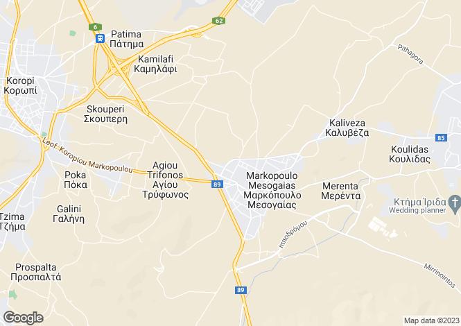 Map for Attica, Markopoulo