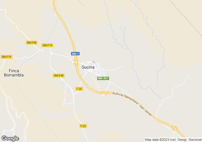 Map for Sucina, Murcia, Spain