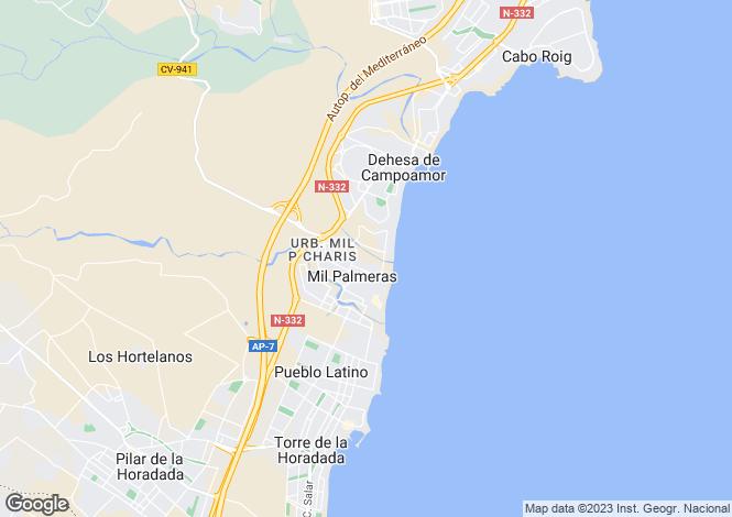 Map for Mil Palmeras, Alicante, Spain