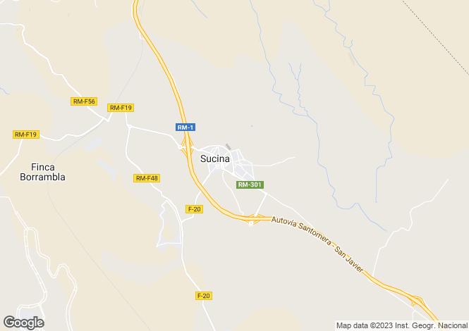 Map for Sucina, Murcia