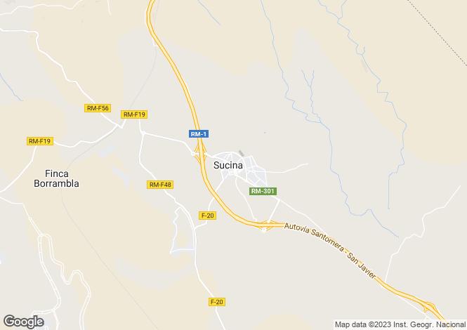 Map for Murcia, Sucina