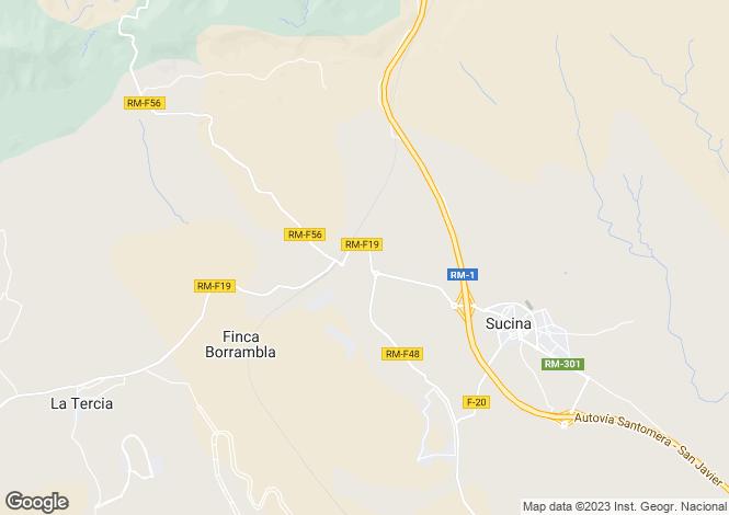 Map for Hacienda Riquelme Sucina, Murcia