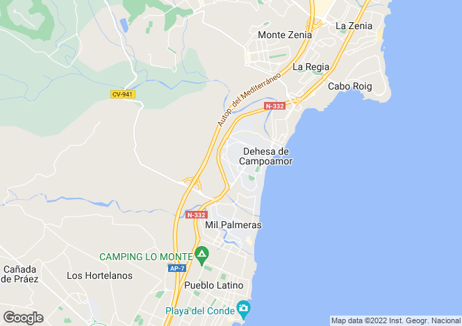 Map for Campoamor