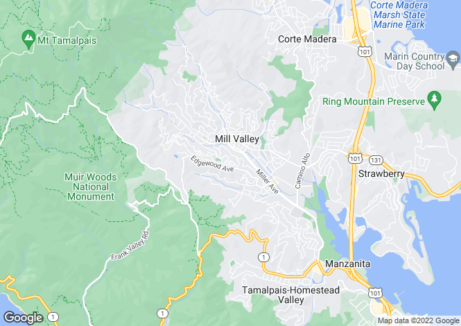 Map for USA - California, Marin County, Mill Valley