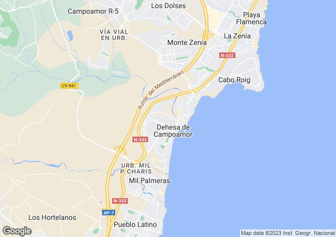 Map for Valencia, Alicante, Dehesa de Campoamor
