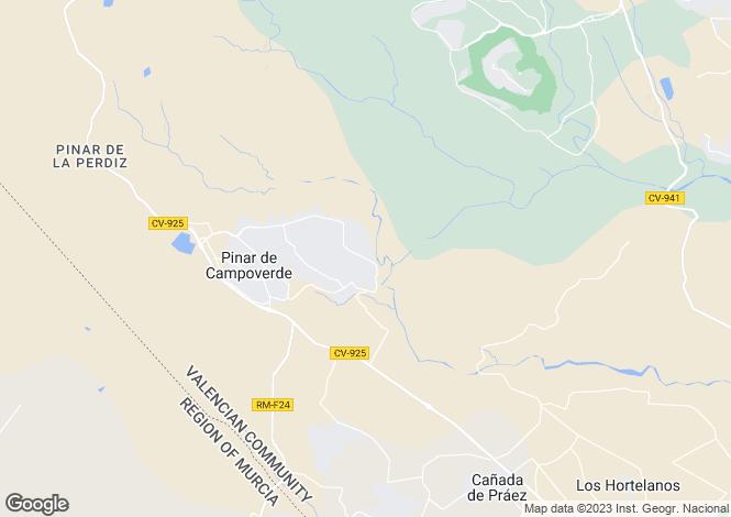 Map for Valencia, Alicante, Pinar De Campoverde