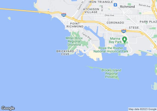 Map for California, Contra Costa County, Richmond