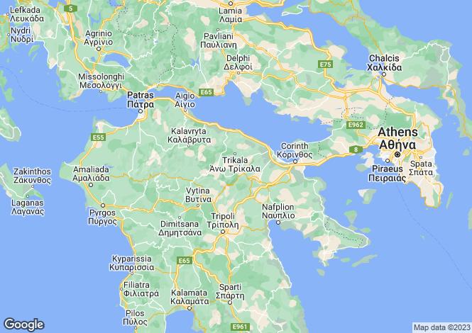 Map for Peloponnese, Corinthia, Archaia Korinthos