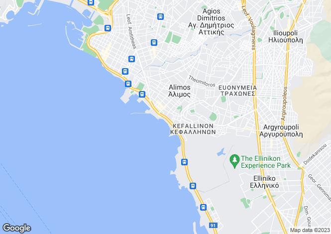 Map for Attica, Kalamaki