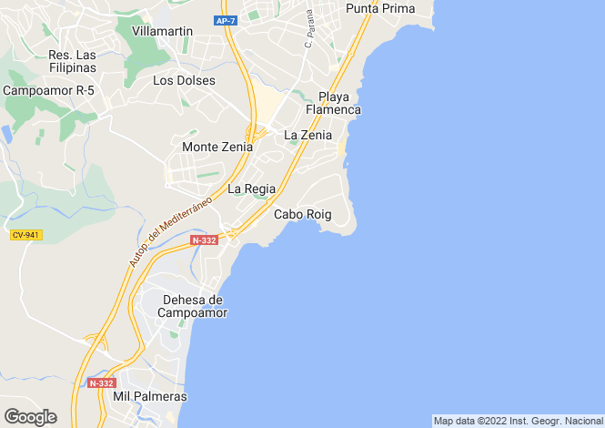 Map for Cabo Roig