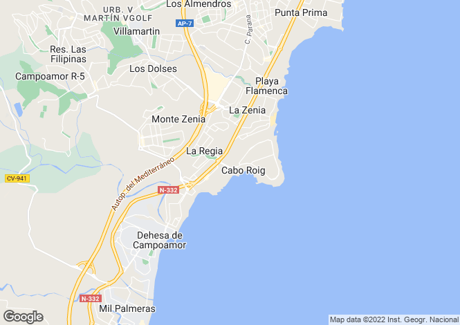 Map for One Bed Apartment Cabo Roig
