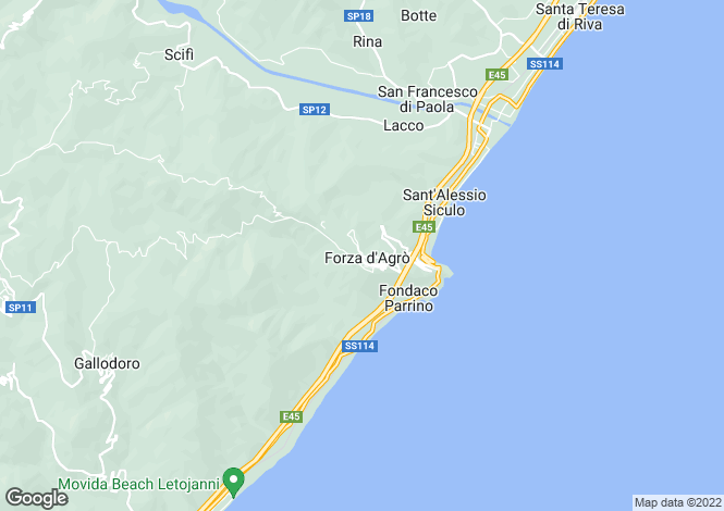 Map for Forza d`Agrò, Messina, Sicily