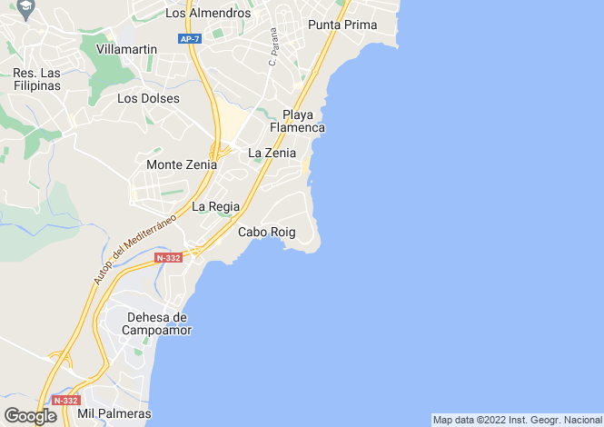 Map for Cabo Roig, Alicante