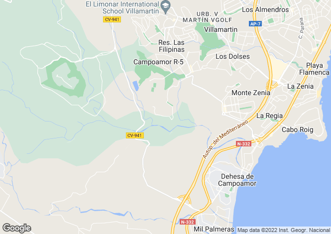Map for Las Ramblas, Alicante, Valencia