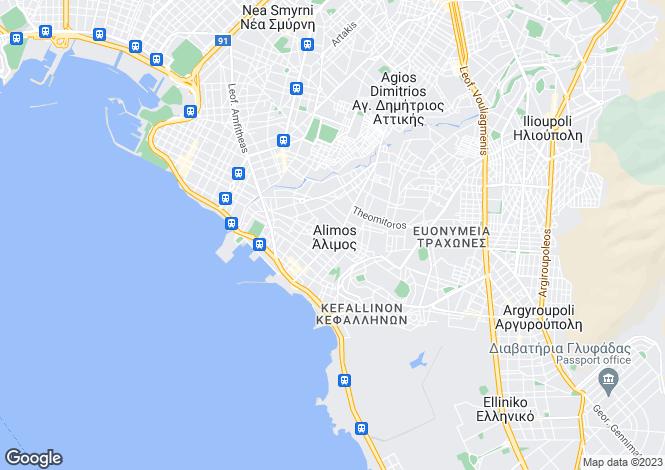 Map for Elliniko, Attica