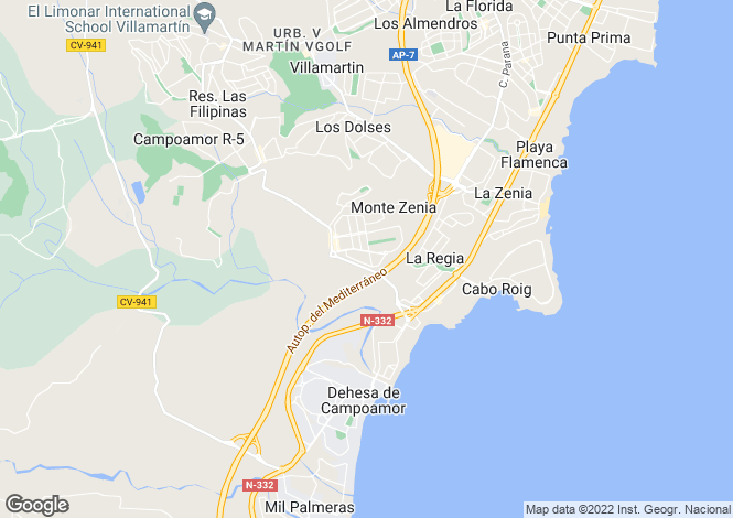Map for Cabo Roig, Alicante, Spain