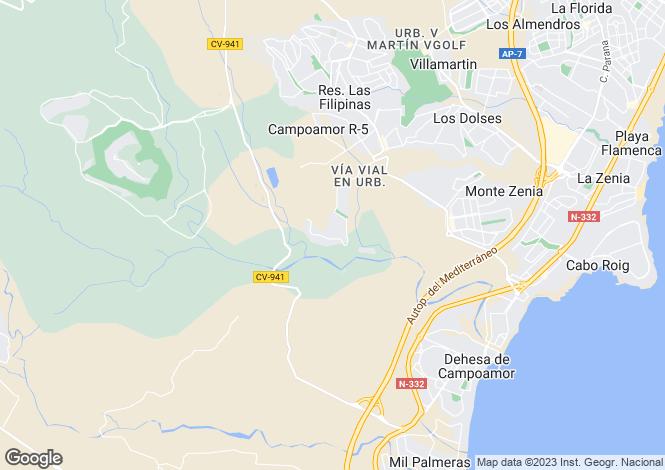 Map for Las Ramblas, Alicante, Spain