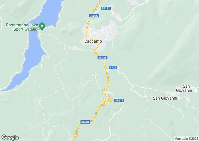 Map for Sicily, Palermo, Caccamo