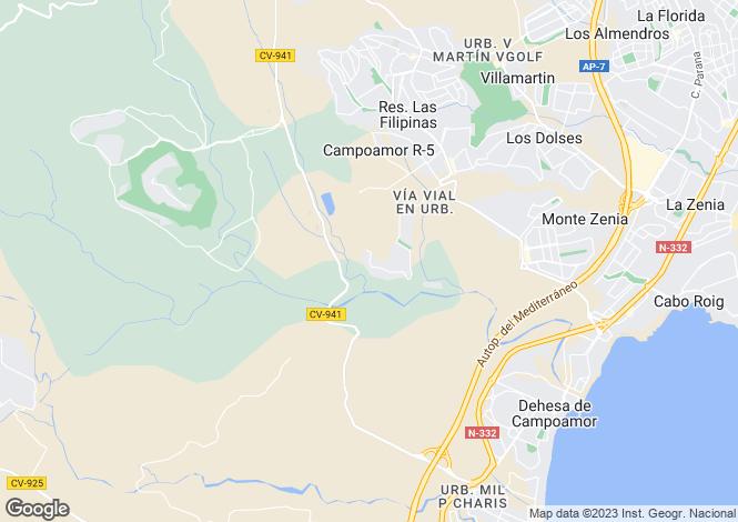 Map for Orihuela, Orihuela, Alicante