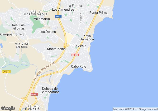 Map for Orihuela-Costa, Alicante, Valencia