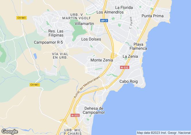 Map for Dehesa de Campoamor, Orihuela, Alicante