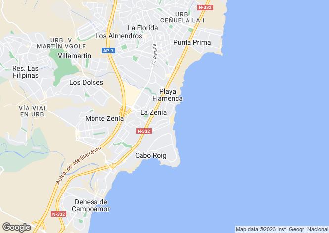 Map for Valencia, Alicante