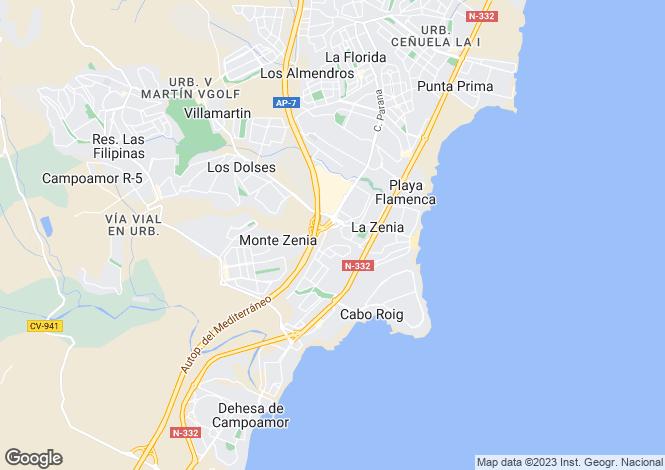 Map for C/ Canela V8, Orihuela Costa, Orihuela