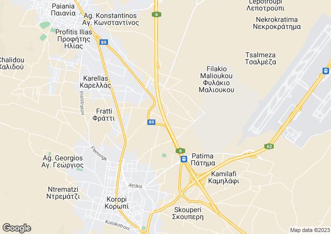 Map for Attica, Koropi