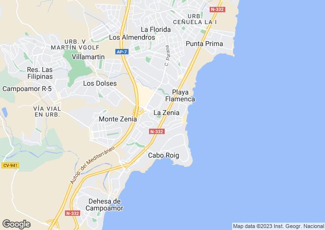 Map for San Jose Iv, Alicante, Spain, Alicante, Spain
