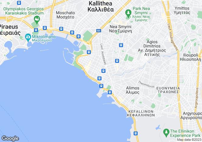 Map for Palaio Faliro, Attica