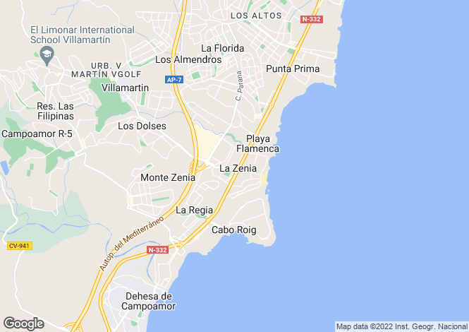 Map for Agost, Alicante, Spain