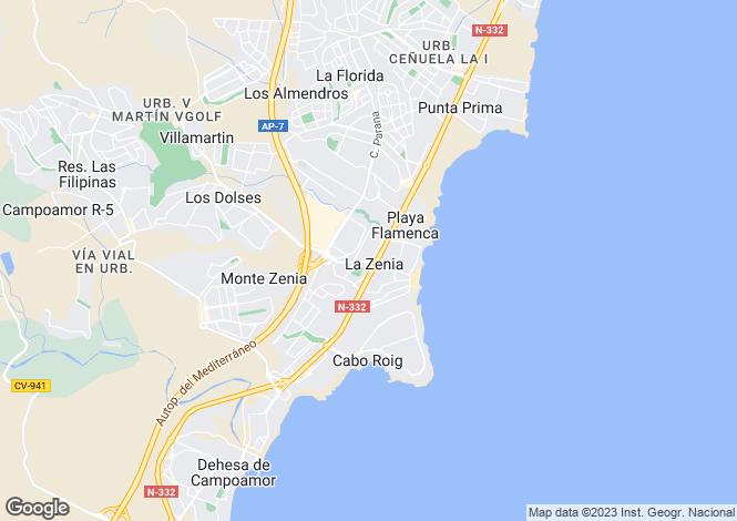 Map for Santa Pola, Alicante, Spain