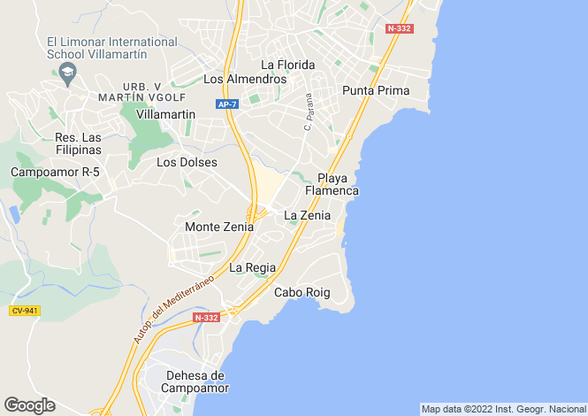 Map for La Zenia