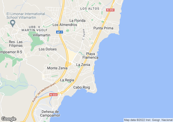 Map for La Zenia