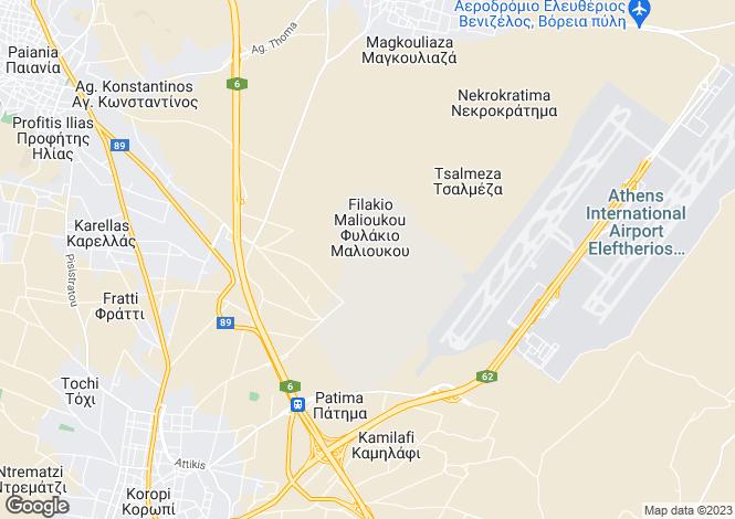 Map for Attica, Spata