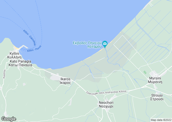 Map for Peloponnese, Elis, Killini