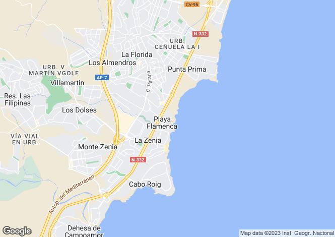 Map for Calle de las Orquideas 3º19  Ed. Flores Playa, Orihuela, Orihuela