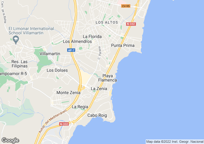 Map for Playa Flamenca
