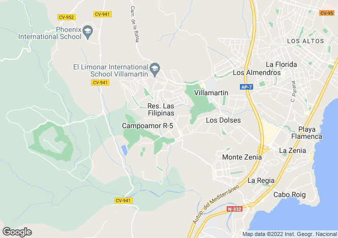 Map for Orihuela Costa, Alicante, Spain