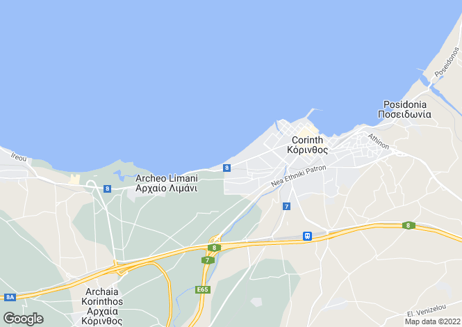 Map for Peloponnese, Corinthia, Korinthos