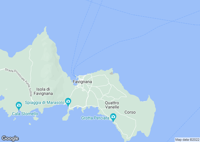 Map for Favignana, Trapani, Italy