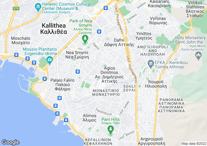 Map for Agios Dimitrios, Attica