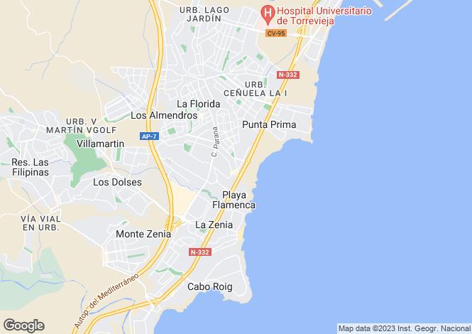 Map for Playa Flamenca, Alicante, Valencia